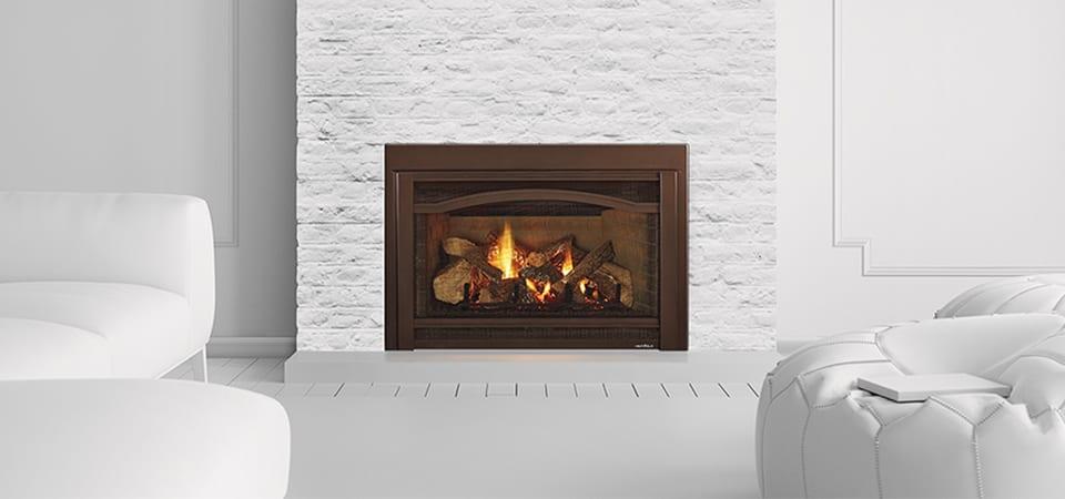 natural look indoor gas fireplace